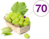 72 colories en moyenne pour 100g de raisin