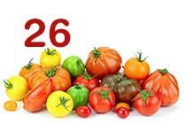26 variétés de tomates vendues