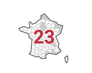 Livraison dans 23 départements