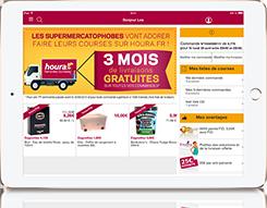 Application ipad pour faire ses courses houra.fr