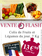 VENTE FLASH Colis Fruits et L�gumes de 7 Kg