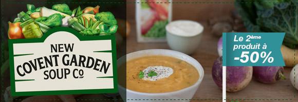 New Covent Garden des soupes fra�ches et naturels, -50% sur le 2�me produit