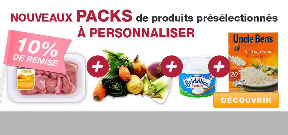 Packs � personnaliser