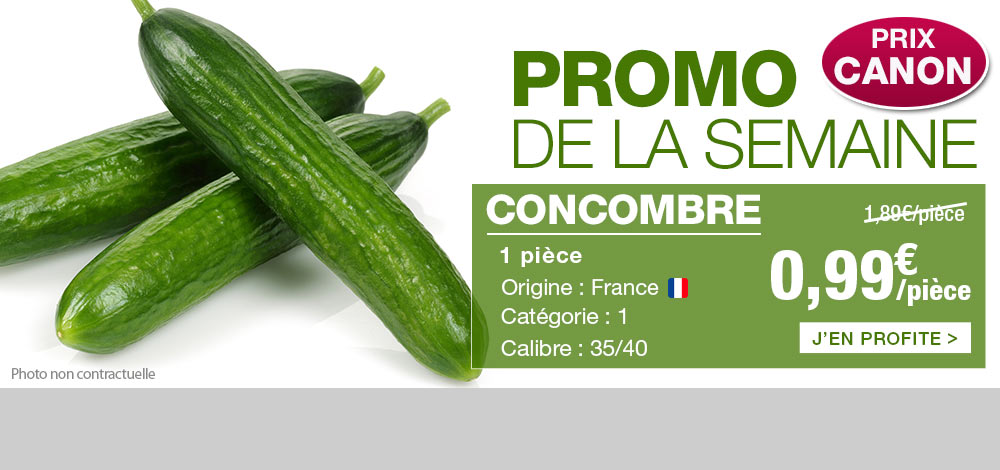 Concombre en promo