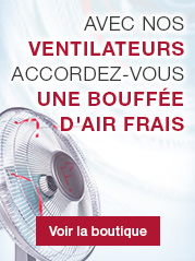 Avec nos ventilateurs accordez-vous une bouff�e d'air frais