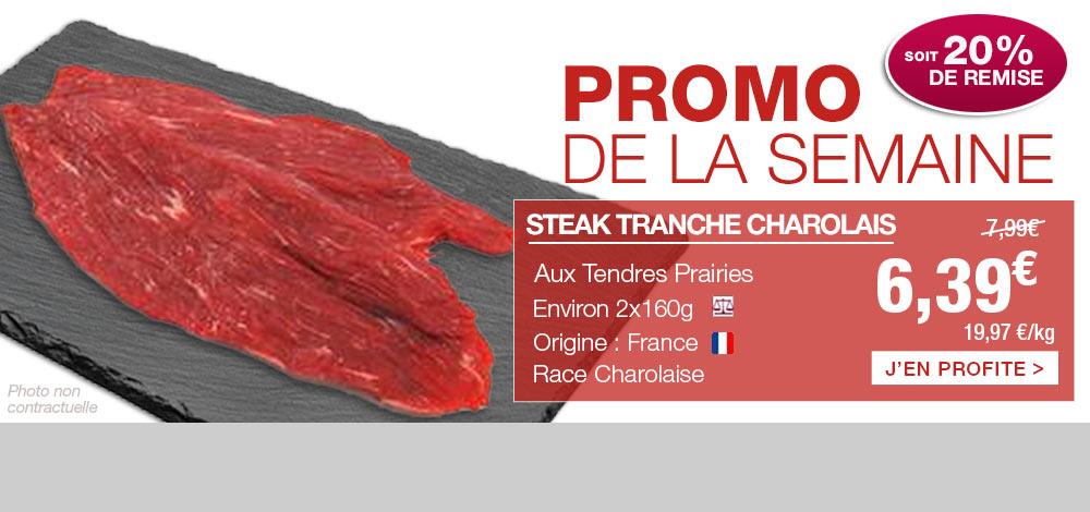 Steak charolais en PROMO