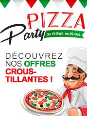 Pizza party : d�couvrez nos offres croustillantes