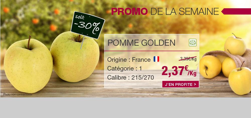 Pomme Golden en promo