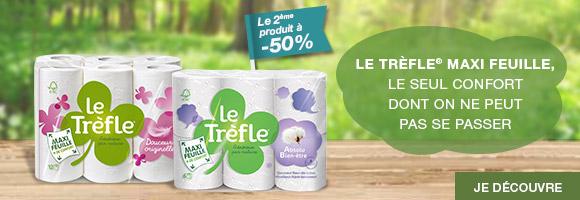 Découvrez l'ensemble de la gamme Le Trèfle® Maxi feuille, un confort dont on ne peut pas se passer