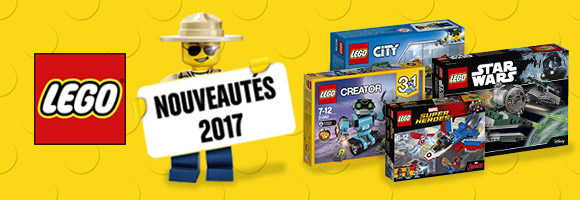 Découvrez toutes les nouveautés LEGO®, dès 18 mois pour DUPLO®, les super héros DC Super Hero Girls® et Super Heroes Dc Universe®, et les incontournables Friends®, Nexo-knights®, Ninjago®, ou Star Wars®