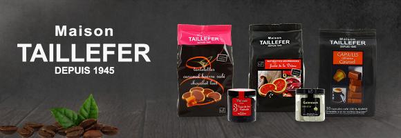 La Maison TAILLEFER a développé son savoir-faire dans le domaine de la gourmandise pour vous proposer une sélection, haut de gamme, de cafés, de thés, de biscuits et de mignardises, de confiseries de chocolat.
