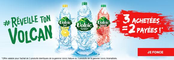 Réveille ton volcan avec l'eau minérale naturelle VOLVIC