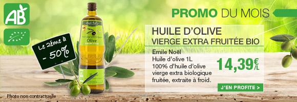Promotion BIO du Mois huile d'olive