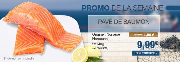 Promo de la semaine Pavé de saumon Norocéan