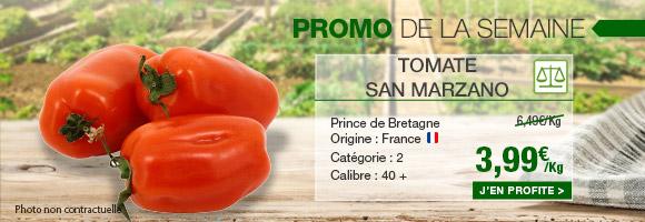 Profitez de notre promotion de la semaine sur la tomate san marzano de chez prince de bretagne.