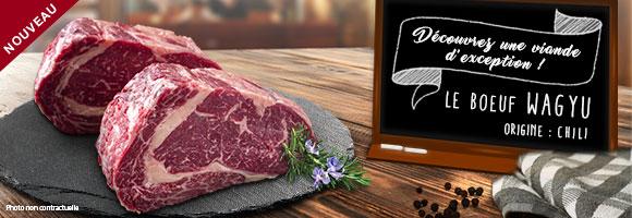 Le Wagyu, bœuf d'origine japonaise, est considéré comme étant la meilleure viande au monde. Son appellation, Wa (Japon) et Gyu (bœuf), englobe également le célèbre bœuf de Kobe. Son persillage, qui lui donne une saveur de beurre sans égal et une tendreté maximale. Son gras intramusculaire est moins élevé en cholestérol que les autres viandes bovines. Les bœufs sont même dorlotés ; ils reçoivent séances de massages, écoutent de la musique classique et ont même droit à de la bière dans leur eau. Tendres Prairies a à cœur le bien-être et la santé de ses clients, tout comme celui de ses bêtes. C'est pourquoi le Wagyu Tendres Prairies est élevé à l'air libre dans d'immenses prairies au sud Chili.