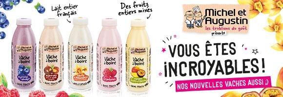 Découvrez nos promotions sur les Vaches à boire Michel & Augustin. Attention très très gourmand !
