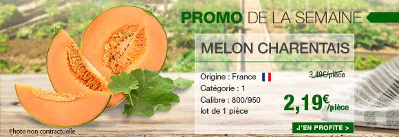 Profitez de notre promotion de la semaine sur le Melon charentais.