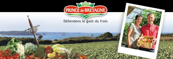 Prince de Bretagne est né de la volonté des producteurs de légumes bretons d'avoir une marque forte, synonyme de qualité et reconnue par l'ensemble de la filière jusqu'au consommateur. Prince de Bretagne en quelques chiffres c'est : 2350 producteurs et acteurs de la marque, 87 références de fruits et légumes, et plus de 500000 tonnes de légumes produits par an.