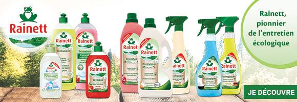 Découvrez la gamme RAINETT, pionnier de l'entretien écologique.