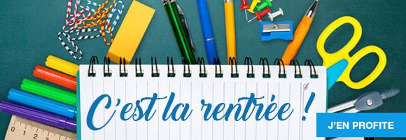 Toutes les fournitures scolaires, cartables, cahiers, classeurs, stylos, colles et feutres.. découvrez les essentiels pour une bonne rentrée des classes.