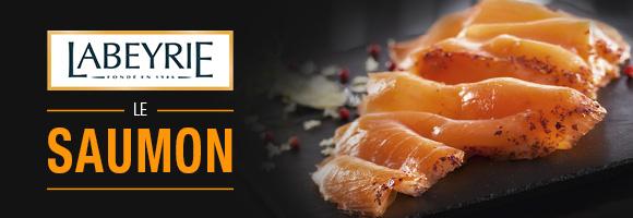 Chaque jour, nous cultivons l'excellence pour vous offrir la certitude que le meilleur se trouve dans votre assiette La touche Labeyrie consiste à apporter un savoir-faire spécifique à chaque Saumon sélectionné : nos experts vont apporter aux Saumons des subtilités de goût propres à chaque origine.