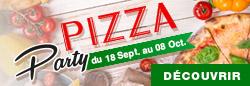 Découvrez nos offres croustillantes : Pizza Party