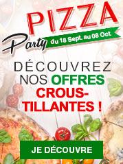 Pizza Party : découvrez nos offres croustillantes