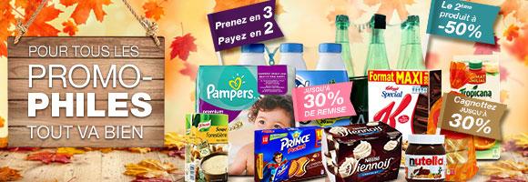 Retrouvez + de 700 promotions, produits frais, fruits et légumes, bébé... toute l'année !