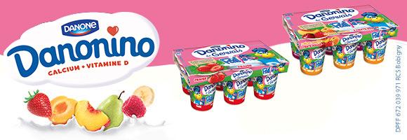 A boire, en gourde, en paille ou en pot, variez les plaisirs avec la gamme Danonino!