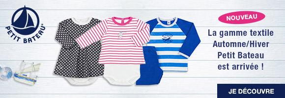Nouveau ! La gamme textile Automne/Hiver Petit Bateau est arrivée.