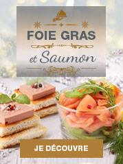 Foie gras et saumon