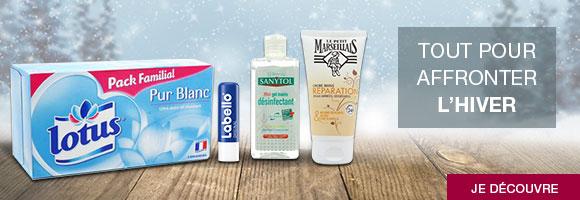 Découvrez notre gamme de produits pour vous aider à affronter l'hiver sereinement