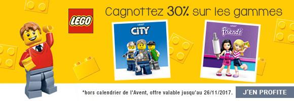 Profitez de cagnottez 30% sur les gammes LEGO® City LEGO® Friends.