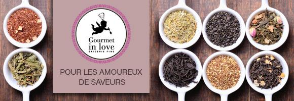 Succombez au charme des produits Gourmet in love : cacaos, cafés, thés, épices, fleurs de sel, mélanges pour cocktails... pour les amoureux des bonnes choses et des belles saveurs.