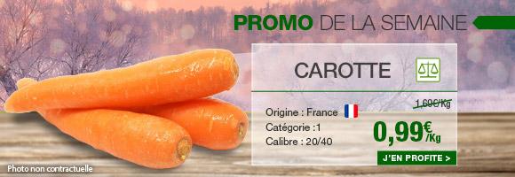 Profitez de notre promotion de la semaine sur la carotte.