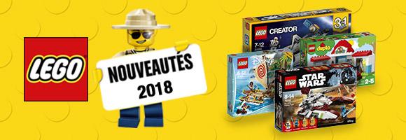 Découvrez toutes les nouveautés LEGO®, dès 18 mois pour DUPLO®, les Super Heroes Dc Universe®, ou Super Heroes Marvel®, et les incontournables City® Friends®, Ninjago®, ou Star Wars®