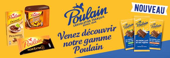 Poulain, chocolatier depuis 1848 vous propose de découvrir ses nouvelles plaques de chocolat !
