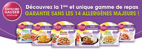 Découvrez une gamme de repas sans 14 allergènes majeurs.