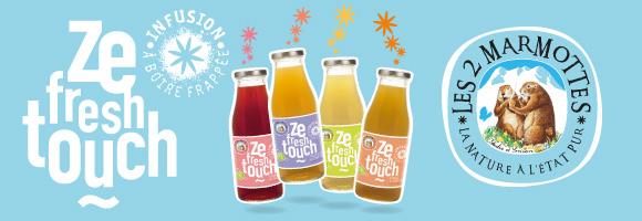 Découvrez les succulentes infusions frappées Ze Fresh touch Les 2 Marmottes ainsi que la gamme de thés et d'infusions !