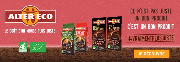 Envie de changer le monde ? Acheter un produit bio et équitable Alter Eco permet de préserver les conditions de vie et de travail des petits producteurs. Découvrez une large gamme de produits : café, chocolat, riz, boissons, thés...