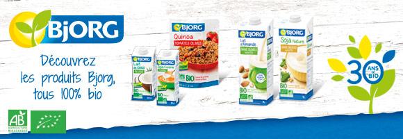 Pour le plaisir de toute la famille, découvrez les produits Bjorg, tous 100% BIO depuis plus de 30 ans
