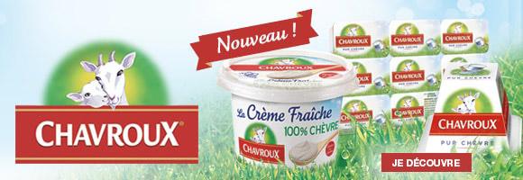 Découvrez la crème fraîche 100 % chèvre de Chavroux, un goût subtil idéal pour tous vos plats!