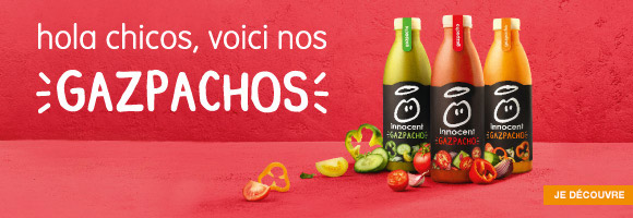 Découvrez les boissons fraîches et Gaspachos Innocent