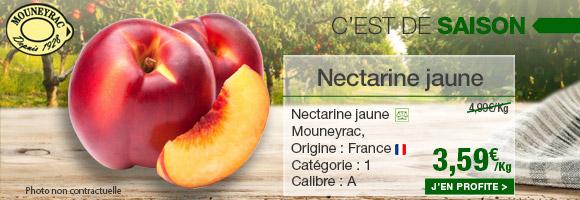 Profitez de notre promotion de la semaine sur la nectarine jaune de chez Mouneyrac