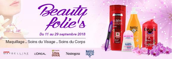 Découvrez et profitez de nos promotions à l'occasion de notre opération Beauty Folie's du 11 au 29 Septembre
