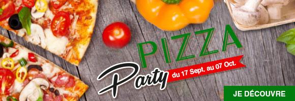 Profitez de nombreuses promotions avec la Pizza Party.