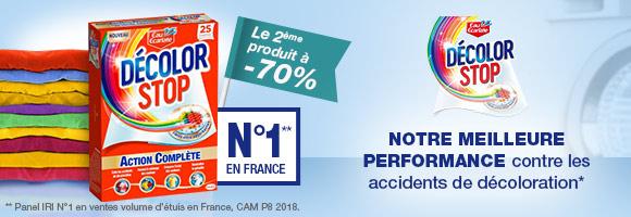 Décolor Stop Action complète : notre meilleure performance contre les accidents de décoloration*  *Comparé à la lingette Décolor Stop 6 Protections