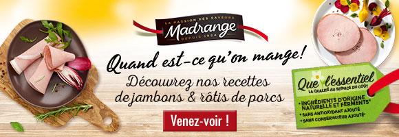 Du 8 au 21 octobre, bénéficiez de -15% sur les Rôtis, Jambons et Pâtés Madrange
