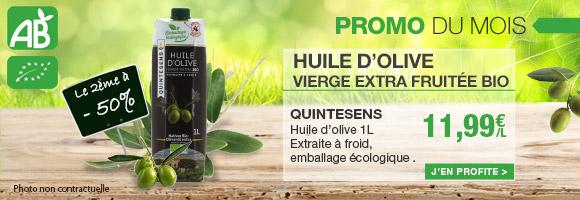 Laissez vous séduire par la nouvelle huile d'olive Vierge Extra Bio Quintesens et son emballage écologique aux multiples vertus